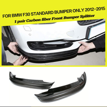 Carbon Front Bumper Splitter Flags Apron Car-Styling For BMW 3Series F30 Standard Sedan 4 Door 12-15