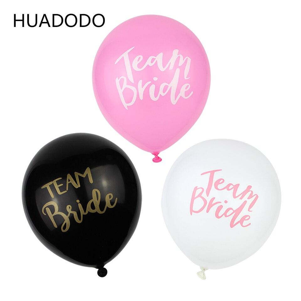 Huadodo 10 unids 12 pulgadas equipo novia boda día Globos para la ...