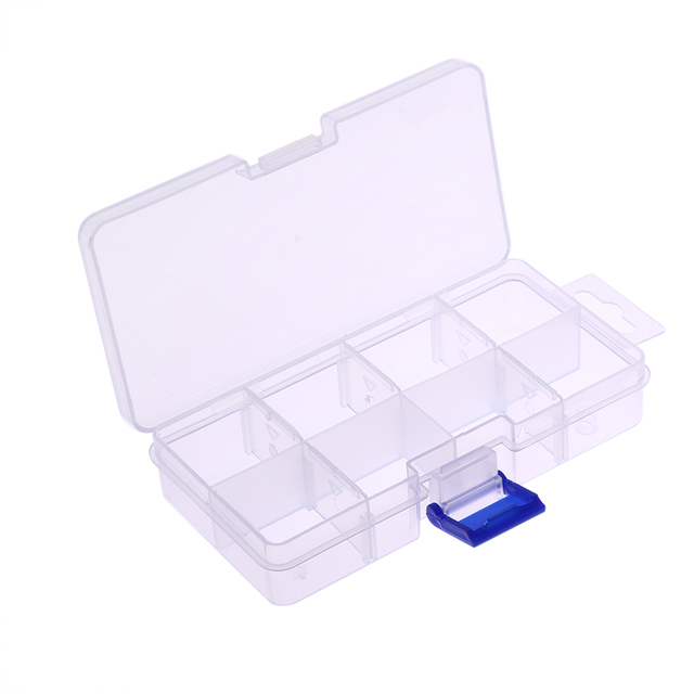 8 Removable Plastic Nail Art Storage Box Jewelry Earring Nail