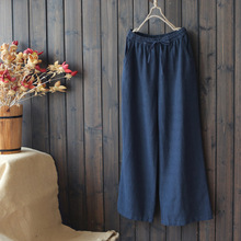 4252 new big size summer women pants casual Japan style Cott