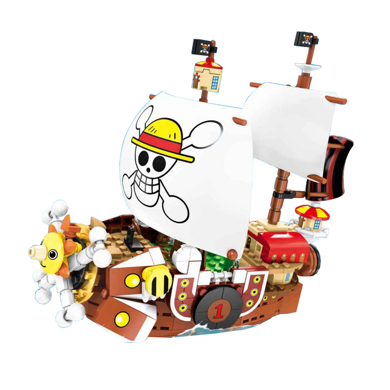 Image 2 - 432pcs One Pieces Compatible Legoingly Thousand Sunny Pirate Ship Luffy Blocks Model Techinc Idea Figures Building Blocks Toys-in Blocks from Toys & Hobbies
