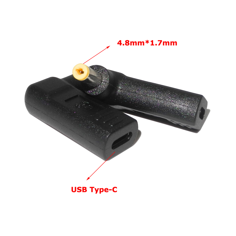 <font><b>USB</b></font> Type C Female to 4.8*1.7mm Dc Plug Power Adapter Converter Laptop <font><b>Charger</b></font> for Hp compaq 500 <font><b>510</b></font> 520 530 540 550 620 CQ515 image