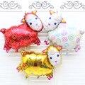 Надувные Игрушки Овец мультфильм скороговоркой Алюминиевой фольги воздушный шар надувные партии celerbration rando цвет