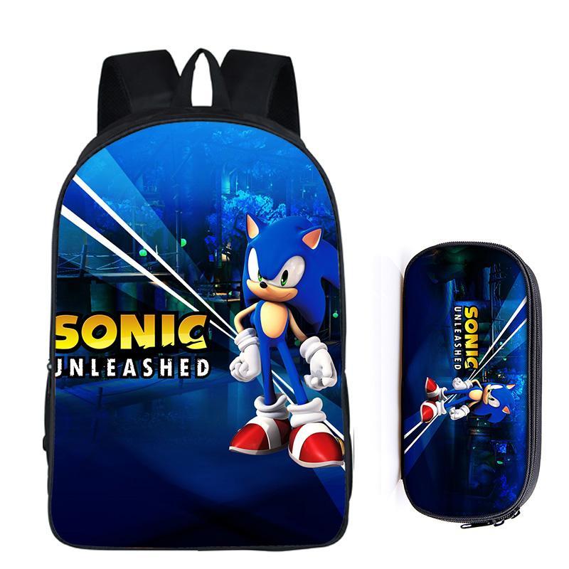 16 Zoll Sonic The Hedgehog Super Mario Schule Tasche Für Kinder Jungen Rucksack Kinder Schule Sets Bleistift Tasche Kleinkind Schul