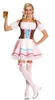 Women Sexy Red Plaid Bavaria Oktoberfest Costume Germany Dirndl Beer Girl Wench Heidi Fancy Dress