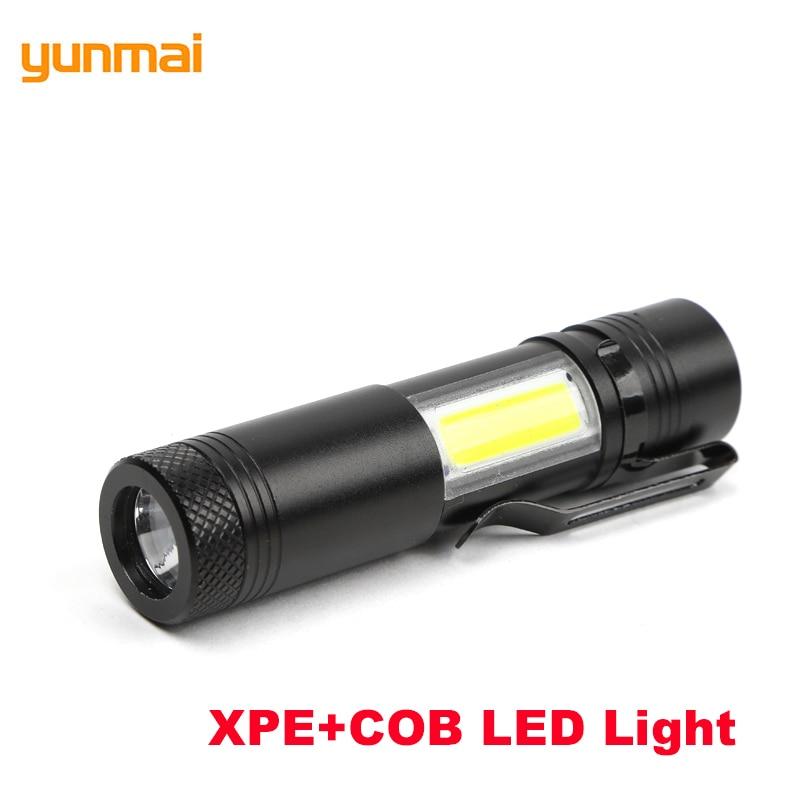 LED XPE+COB Mini Flashlight Hard Light Handy Penlight 4 ...