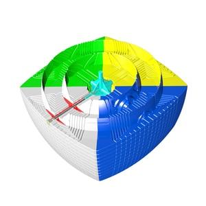 Image 4 - Yuxin Huanglong 17x17x17 큐브 스티커가없는 Zhisheng SpeedCube 퍼즐 트위스트 17x17 Cubo Magico yuxin huanglong 17