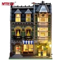 MTELE Brand New Arrival Led Light Building Blocks Set For Green Grocer House Model Toy Lepin