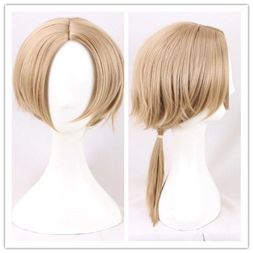 Кредо игры черный флаг Эдвард кенвей блондинка парик для косплея золотые волосы конский хвост бесплатная доставка