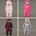 Otoño invierno ropa de bebé niña recién nacido ropa Mamelucos Fleece bebé Ropa 6 M-24 M del bebé bebes conjunto Mono Infantil