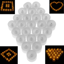 Sale 24pcs Electronics Flashing LED Lamp Tealight Candle for Holiday Party Wedding Home Decorative Light