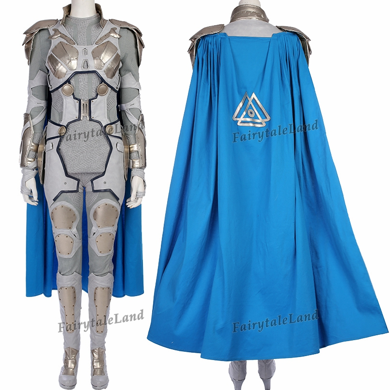 Valkyrie Cosplay Costume Adult Superhero Cosplay Thor Ragnarok Suit Carnival Halloween costumes Valkyrie Silver costume