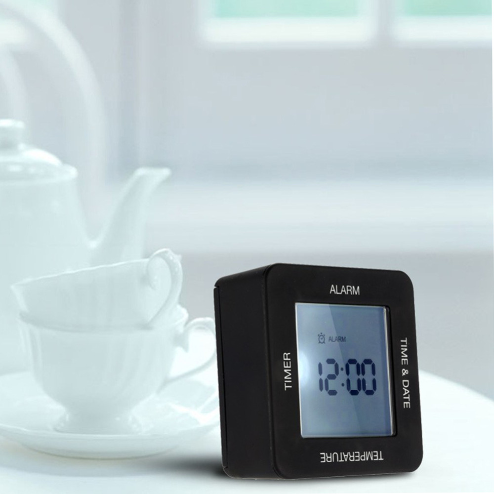 Electronic Desk Clock Table Clock Fashion Creative Rotation Sensing Calendar Digital Alarm Clock with Timer Alarm Time