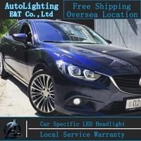 Car Styling LED Head Lamp For Mazda 6 Led Headlights 2015 New Mazda6 Headlight Led Drl