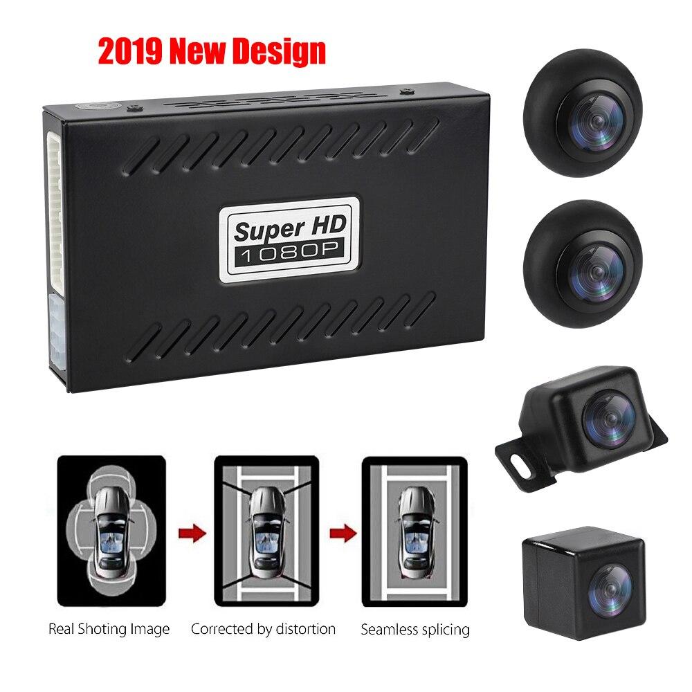 Qualidade de 360 Graus Sistema de Visão Pássaro 4 Câmera Panorâmica Estacionamento Rear View Cam Gravação DVR Carro Universal sistema de Visão Pássaro