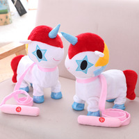 Beautiful new unicorn electric plush toy cool cartoon animal model for dear children like as a birthday present