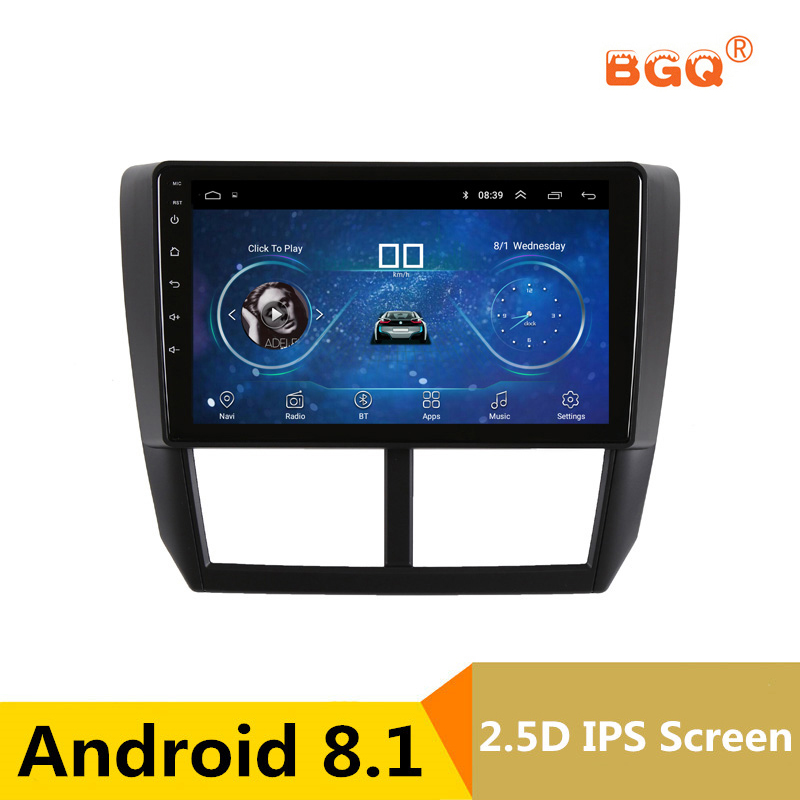9 2.5D IPS screen Android 8.1 Car DVD Multimedia Player GPS For Subaru Forester 2008 2009 2010-2012 audio car radio stereo navi joying hd 9 screen multimedia player 4gb ram octa core android 8 1 car dvd gps navigator radio for subaru forester 2008 2012