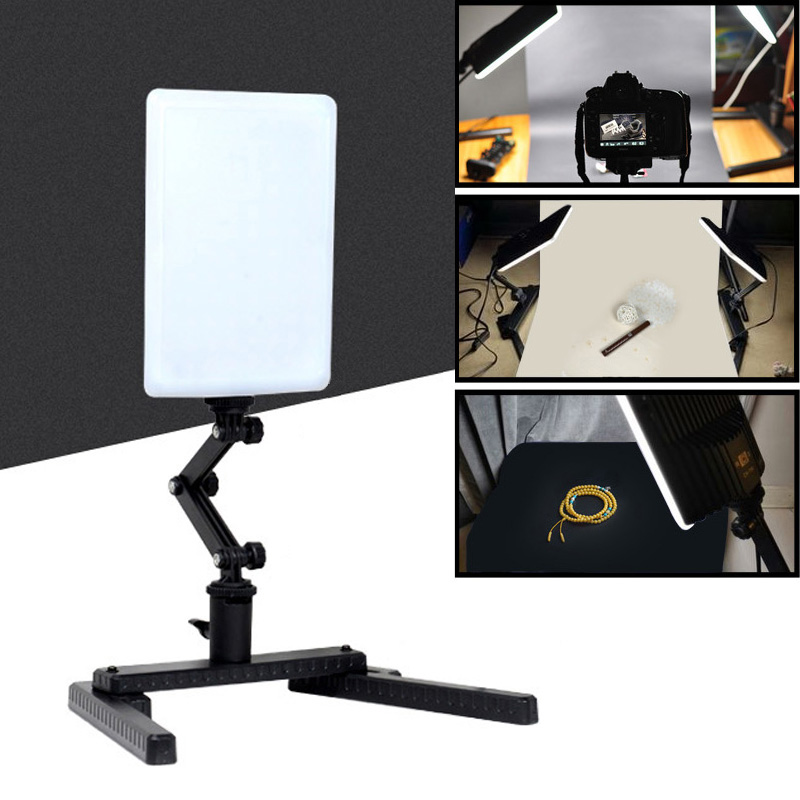 Reliable Roadfisher Photography Photo Lighting Led Bulbs Video Soft Light Lamp Stand Holder For Camcorder Dv Dslr Camera Videography Quality And Quantity Assured Camera/video Bags