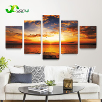 Sea Waves 5 Piece Oil Painting Art High Quality Sea Waves Painitngs Canvas Art Prints Modern