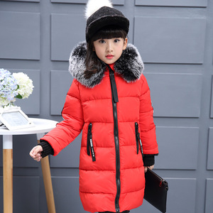 Image 4 - 2019 Girls Russian Winter Long Thickened Warm Cotton Outerwear & Coats Children Hooded Windbreakers Kids Embroidered Jackets  30