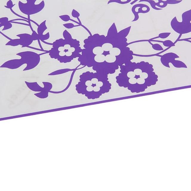 Butterfly Flower Toilet Stickers 4