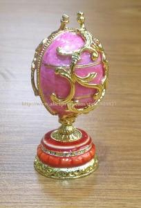 Image 2 - easter egg faberge trinket box egg jewelry box storage box handmade vintage egg shape metal jewelry gift box