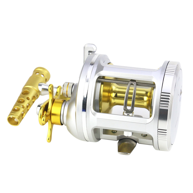 YUMOSHI New 2018 Trolling Reel Fishing TA 3000-5000 Silver Right Hand Casting Sea Fishing Reel Saltwater Baitcasting Reel Coil metal round jigging reel 6 1 bearing saltwater trolling drum reels right hand fishing sea coil baitcasting reel