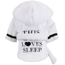 Dog Pet Pajamas Teddy Cat Clothes Robes Homewear Puppy Hoodie Soft LOVE SLEEP Print Pjs XS S M L XL 2XL