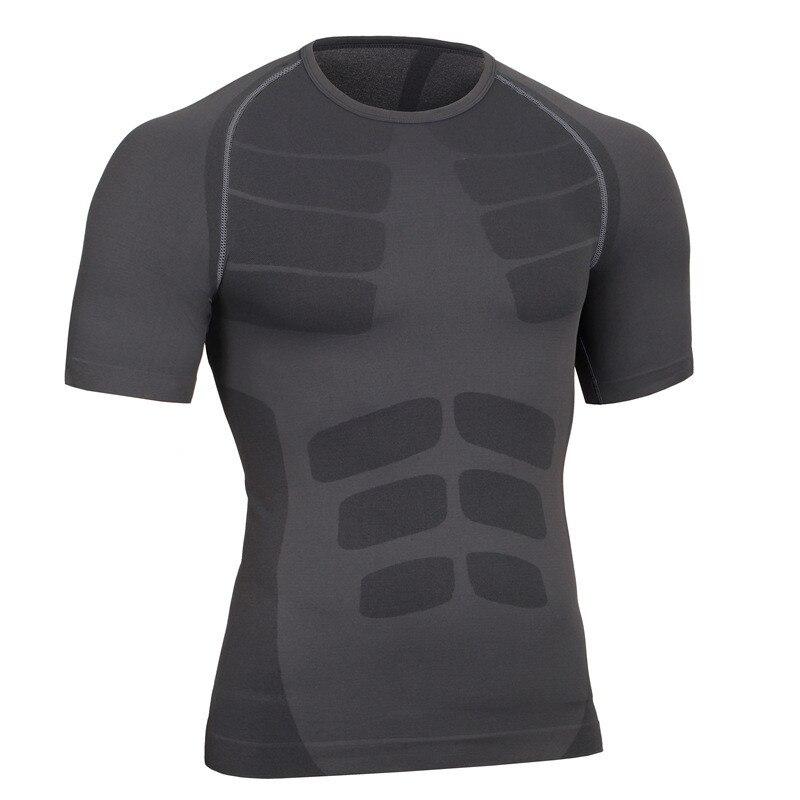 남성 휘트니스 근육 보호대 통기성 티셔츠 만들기 브랜드 의류 운동 Quick-Dry Elastic Male Shirts
