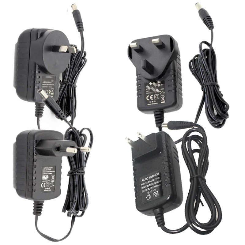 110-220 В переменного тока в постоянный источник питания зарядное устройство Трансформатор Адаптер 12 В 1A 2A 3A 5A 6A 8A США ЕС Штекер 5,5 мм x 2,5 мм для светодиодные ленты светильник