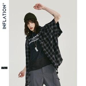 Image 2 - INFLATION Men Plaid Shirt Men Shirts 2019 New Summer Fashion Homme Mens Checkered Shirts Short Sleeve Shirt Men Blouse 9253S