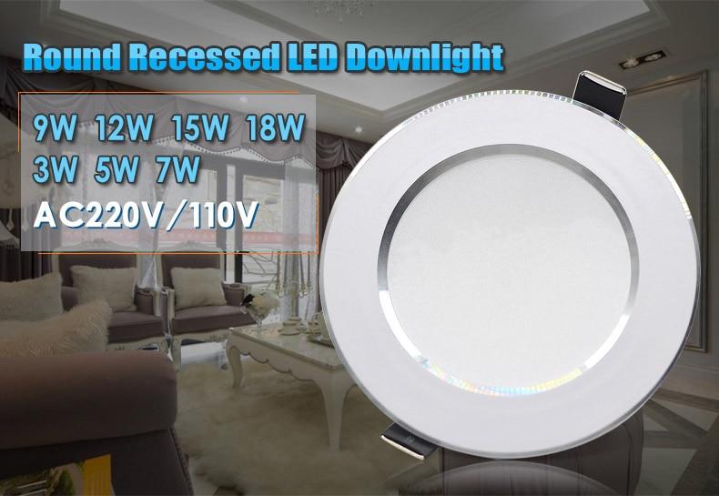 LED Downlight 3W 5W 7W 9W 12W 15W 18W