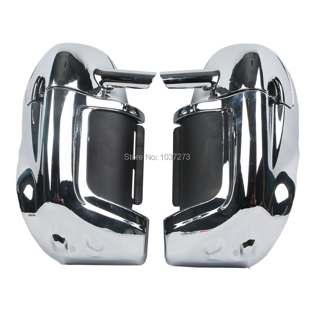 Motorcycle gloves metal - Chrome Lower Vented Leg Fairings Glove Box For Harley Street Electra Road Glide Touring Models Road