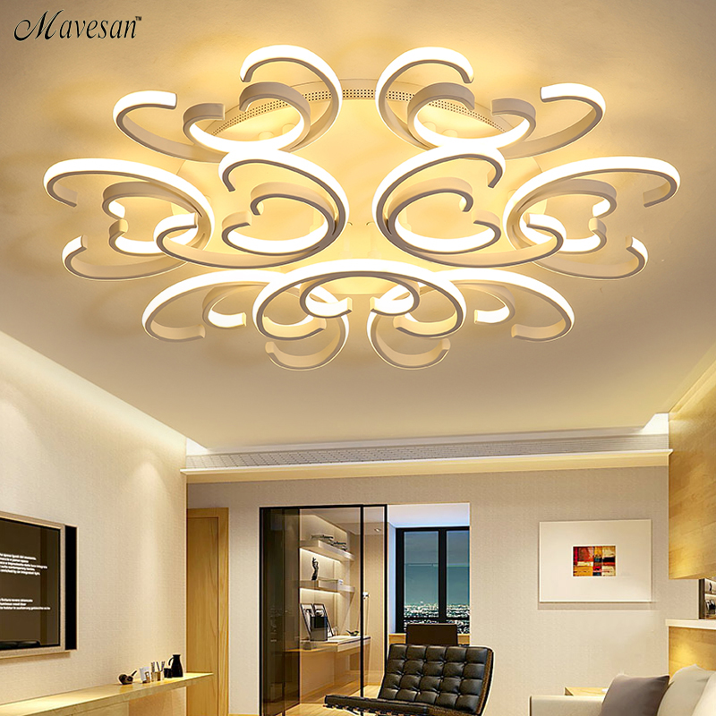 Modern Led Ceiling Lights For Living Room Bedroom Study Room Crystal lustre plafonnier Home Deco Ceiling Lamp AC95V-265V цена 2017