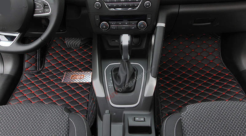 For Renault Kadjar 2015 2016  Accessories Interior Leather Carpets Cover Car Foot Mat Floor Pad 1set accessories for dodge journey fiat freemont 7seats jc 2010 2017 2015 2016 inner floor mats foot pad car leather carpet kits