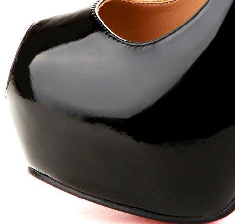 Fghgf En Femmes Mariage ChaussuresNoir Cm Sexy Dame Chaussures Haute Partie Peep Avec Des Imprimer Toe Pompes 16 Plate Talons forme De Fleurs Cuir CodxrBWe