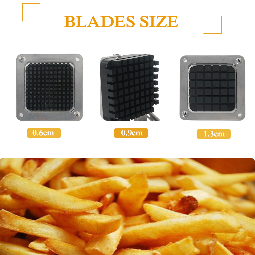 French Fry Potato Chip Cut Cutter Vegetable Fruit Slicer Manual Kitchen Equipment Commercial Machine