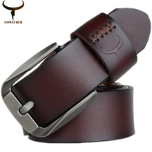 Cowather Vintage Style Buckle Cow Leather Belt