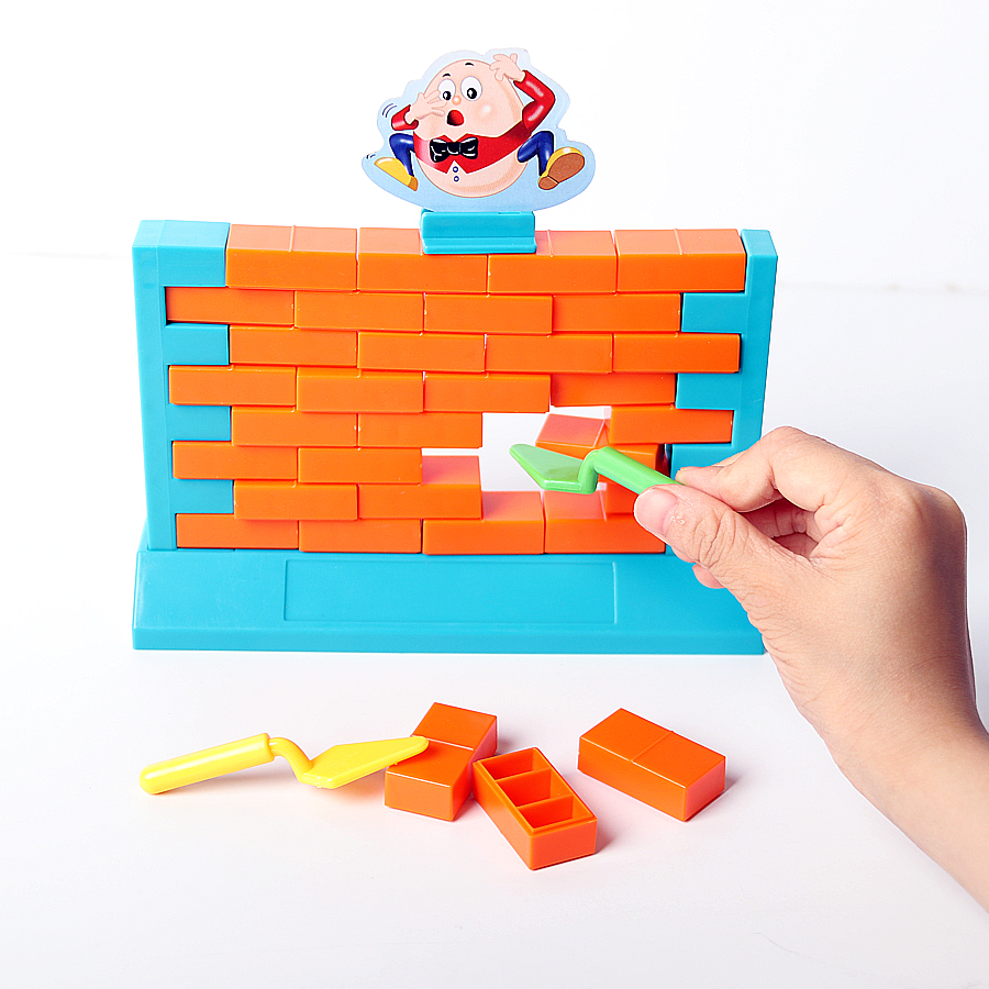 Challenging Kids 3D Humpty Dumpty Plastic Wall Brick Game MINI Set, 3D Parent-Child Family Party Game Educational Toys For Kids