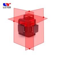 NEW leter 3D Laser Level Cross Line Laser Projectors laser line 360 degree laser