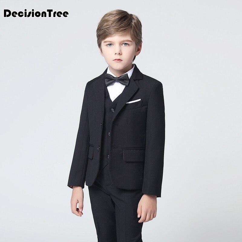 GemäßIgt 2019 Neue Explosion Modelle Britischen Wind Kinder Jungen Anzug Gentleman Kinder Langarm Weste Teiliges Set Anzüge