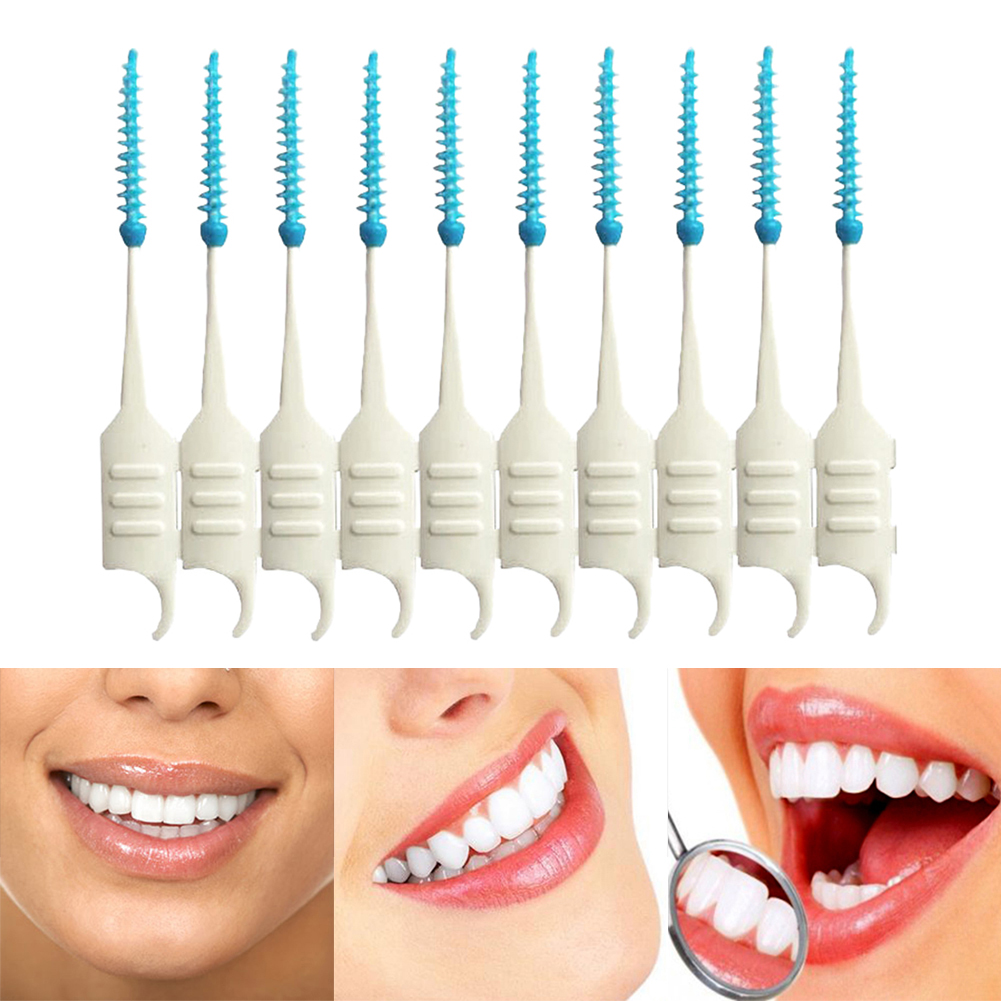 200PCS Dental Flosser Interdental Brush Clean Teeth Stick Toothpicks Floss Pick Oral Hygiene Tooth Dental Floss Oral Deep Clean 1 kit dental orthodontic oral care interdental brush toothpick between teeth brush 3pcs kit570041