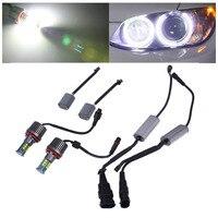 2pcs High Power Error Free LED Angel Eyes Light Bulbs For BMW E92 H8 120W
