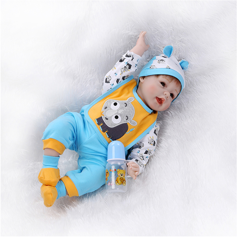 55cm/22inch 100% Silicone Vinyl Reborn Baby Dolls Toys for Newborn Lifelike Baby Kid's Birthday Toys Lovely Sleeping Doll 22 inch 55 cm baby reborn silicone dolls lifelike doll reborn lovely set sleeping doll holiday gift