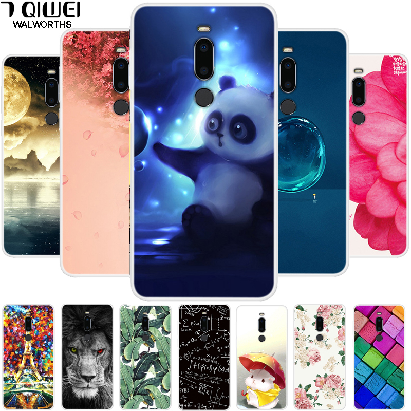 5.7'' For Meizu M8 Case Soft TPU Silicone Flower Back Cover Case For Meizu M8 Case M 8 8M Coque For MeizuM8 Girl Protective Capa