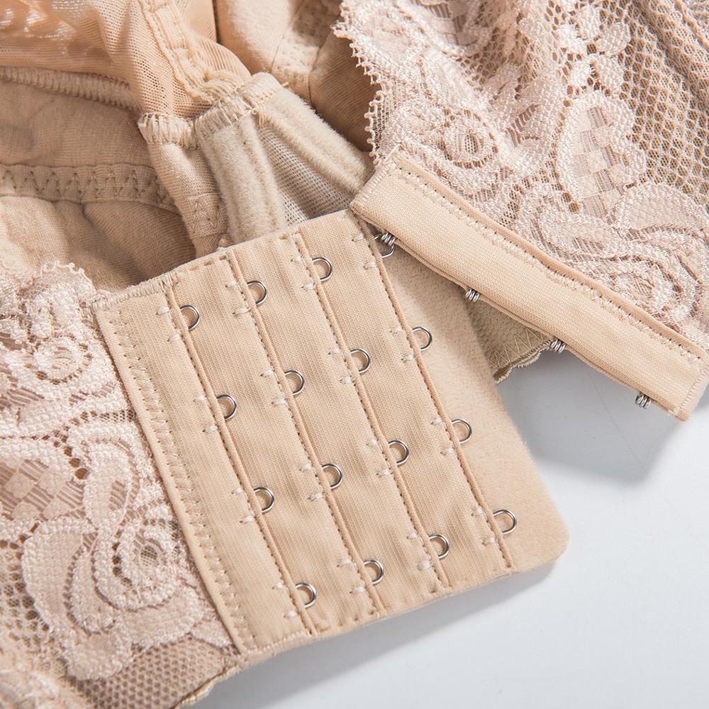 Women's Full Coverage Lace Underwire Lightly Lined Cotton Bra Plus Size 34 36 38 40 43 44 46 48 B C D E F H I J K