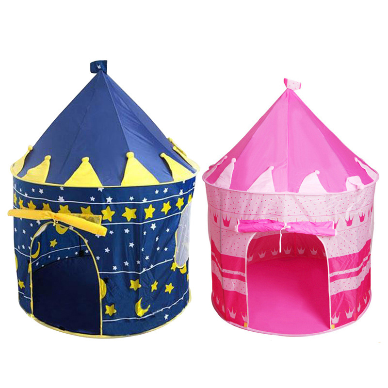 Portable Foldable Tipi Prince Folding Sporting Play Baby Children Outdoor Toy Tents for Kids House Castle Cubby Gift Ball Pool