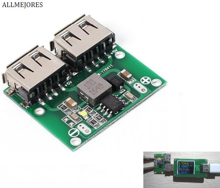 9V 12V 24V To 5V DC-DC Stepdown Voltage Regulator Dual USB Output Buck Voltage Board 3A Car Charge Charging Regulator 6-26V