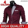 HoT Sale 2016 Men's Fashion Cotton Designer Korean Style Slim Fit Dress man Shirts Tops Western Casual S M L XL 8017
