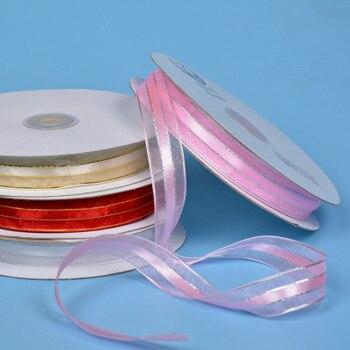 Cinta de organza transparente de 2cm y 10 yardas, cinta Phnom para ropa de vestir, lazo hecho a mano para boda